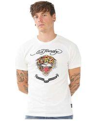 Ed Hardy TSHIRT HARD BL T-shirt - Blanc