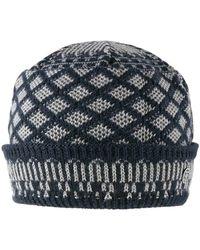 Stetson Bonnet Bonnet Rombik Knit Beanie - Bleu