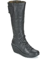 Fly London - Yulo Women's High Boots In Black - Lyst