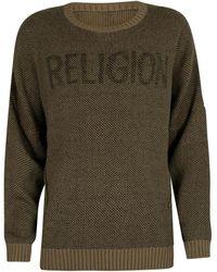 Religion Tricot de pont Pull - Vert