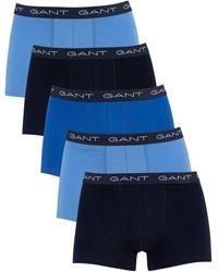 GANT Pour des hommes Paquet de 5 malles, Bleu hommes Boxers en bleu