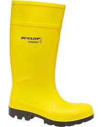 Dunlop | Purofort C462241 Men's Wellington Boots In Yellow | Lyst