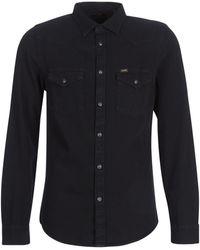 Lee Jeans Overhemden Western Shirt - Zwart