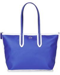Lacoste - L 12 12 Concept Fantaisie Women's Shopper Bag In Blue - Lyst