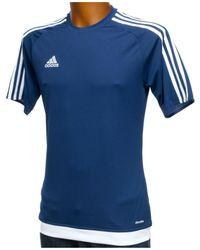adidas Estro marine climalite hommes T-shirt en bleu