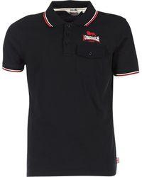 Lonsdale London Polo Shirt Korte Mouw Lynton - Zwart