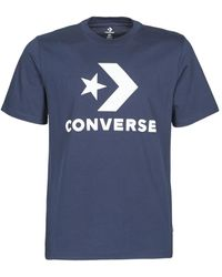 Converse T-shirt Korte Mouw Star Chevron Tee - Blauw