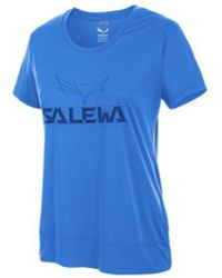 Salewa Puez Mountain Dry W S/s Tee 25646-3420 Women's T Shirt In Blue
