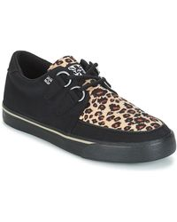 T.U.K. Lage Sneakers Sneaker Creeper - Zwart