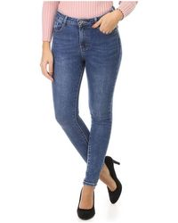 La Modeuse Jeans skinny bleu effet délavé Jeans skinny