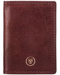 Maxwell Scott Bags Wine Women's Briefcase In Red