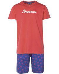 Arthur Pyjama court Pyjamas / Chemises de nuit - Rouge