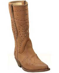 Sancho Boots - Santiag en cuir vachette ref_san27590-marron 36 Bottes en Marron - Lyst