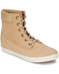 """Timberland - Earthkeepers® Glastenbury 6"""" Boot Women's Shoes (high-top Trainers) In Beige - Lyst"""