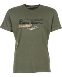 Pepe Jeans - Abad Homme Men's T Shirt In Green - Lyst