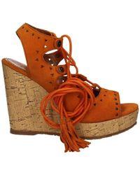 Apepazza - Clr10 Wedge Sandals Women Orange Women's Sandals In Orange - Lyst