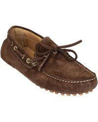 Leonardo Shoes 502 CAMOSCIO TESTA MORO PIOLI Chaussures - Marron