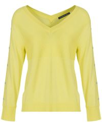 Mado Et Les Autres - Polyamide Viscose Knit Jumper Anais O Yellow Woman Spring/summe Women's Jumper In Yellow - Lyst