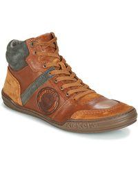 Kickers Hoge Sneakers Jexplorehigh - Bruin