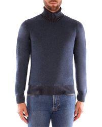 Gran Sasso BICOLOR suéteres hombre azul