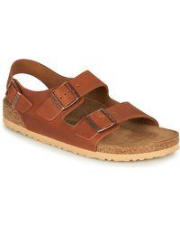 Birkenstock Sandalen Milano Leather - Bruin
