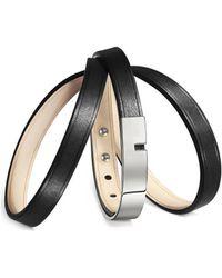 Ursul - Bracelet U-turn Triple I Black / Gold Woman Autumn/winter Coll Women's Bracelet In Black - Lyst