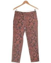 H&M Pantalon Slim Femme 36 - T1 - S Pantalon - Rose