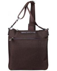 Trussardi Pochette extra-plate Cross Body Bag Sacoche - Marron
