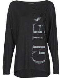Guess LS KAROLINA TEE T-shirt - Noir