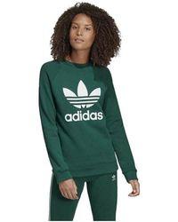 339064c84 adidas - Sudadera Original Trf Crew Sweat Dv2623 Women's Sweatshirt In  Green - Lyst