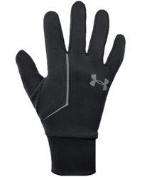 Under Armour SS CGI Run Liner Glove 1318571-001 hommes Gants en multicolor - Noir