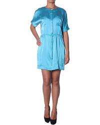 Balmain - Robe Courte en Soie pour Femme femmes Robe en bleu