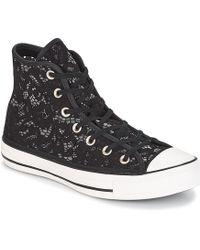 Converse - CHUCK TAYLOR ALL STAR-HI femmes Chaussures en Noir - Lyst