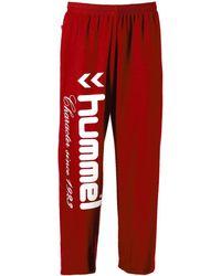 Hummel Pantalon UH Rouge-M femmes Jogging en rouge