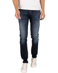 Jack & Jones Jeans Jean slim Glenn Original 210 - Bleu