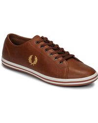 Fred Perry Sneakers Kingston Leather - Bruin