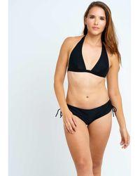 Body One Maillots de bain SG Foulard maillot de bain uni - Noir