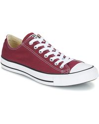 Converse - All Star Ox Women's Shoes (trainers) In Red - Lyst