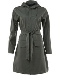 Rains Trenchcoat Belt Jacket - Groen