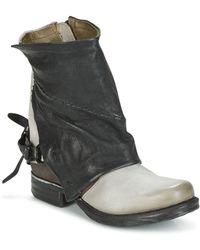 A.S.98 - Zevio Women's Mid Boots In Black - Lyst