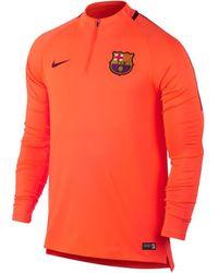 Nike Fleece Jack Fc Barcelone Drill Top - Oranje