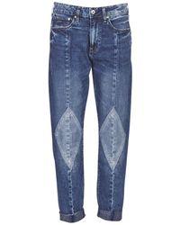 G-Star RAW Jeans 3301-L MID BOYFRIEND DIAMOND - Azul