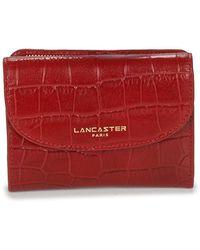 Lancaster Cartera EXOTIC CROCO - Rojo