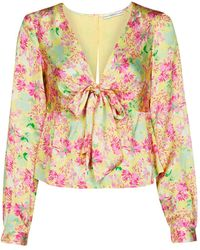 Guess NEW LS GWEN TOP Blouses - Multicolore
