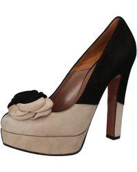 Gianni Marra - Escarpins noir beige daim AJ301 Chaussures escarpins - Lyst