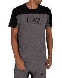 EA7 T-shirt T-shirt graphique - Gris