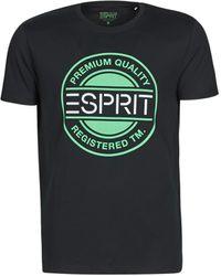 Esprit Camiseta ICON T-SHIRT - Negro
