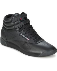 Reebok Lage Sneakers Freestyle Hi - Zwart