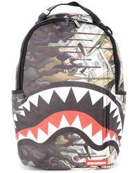 Sprayground Sac à dos Sac à dos Psycho Shark avec motif camouflage - Multicolore