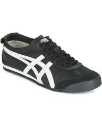 Onitsuka Tiger Lage Sneakers Mexico 66 Leather - Zwart